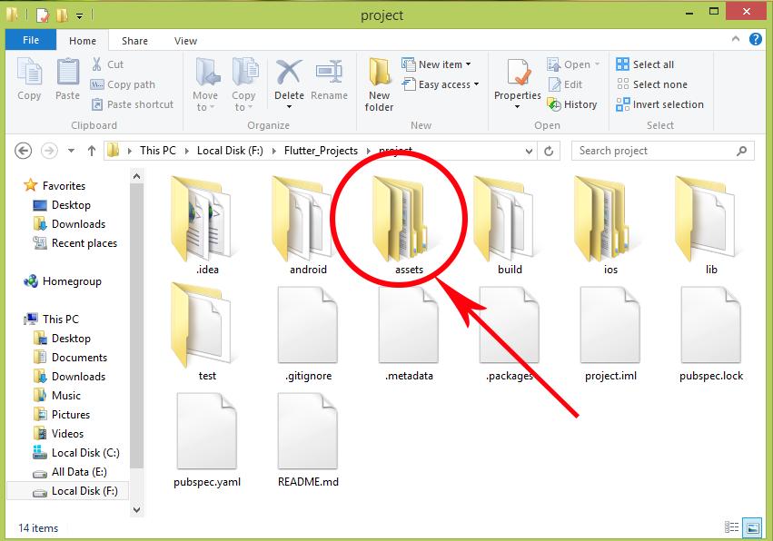 Flutter Add Assets Images Folder Path in Pubspec yaml File