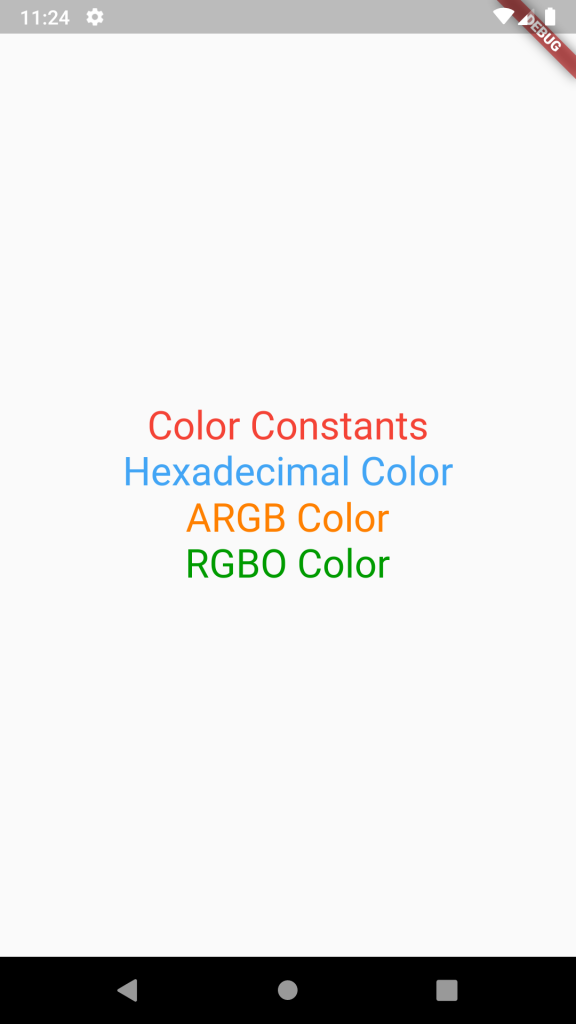 Use Different Color Formats Hex ARGB RGBO in Flutter Dart