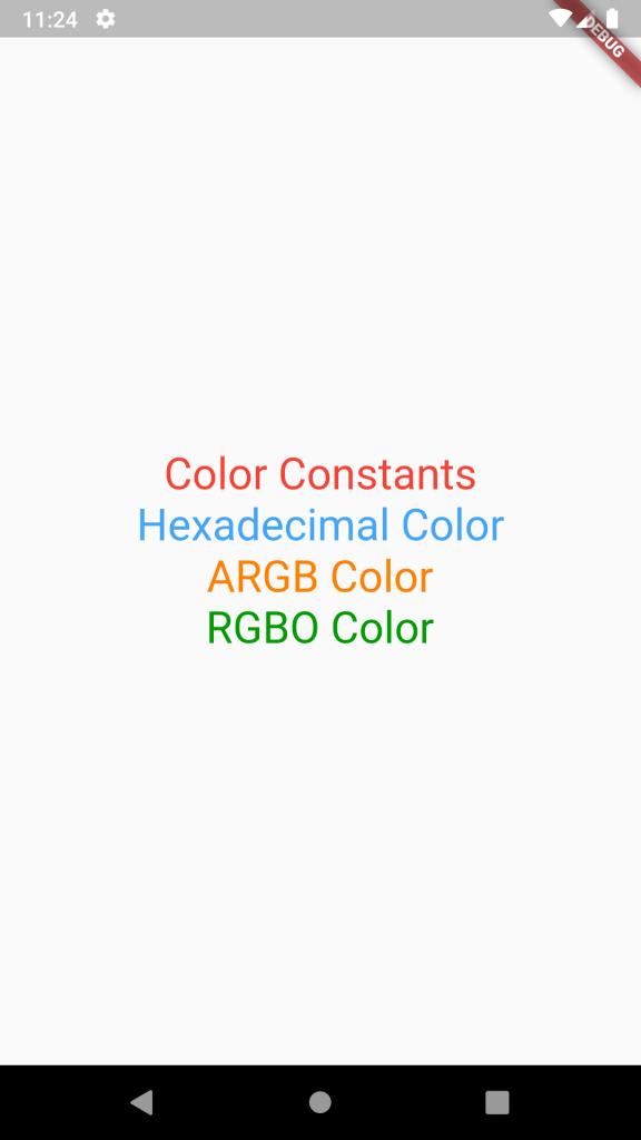 Use Different Color Formats Hex ARGB RGBO in Flutter Dart