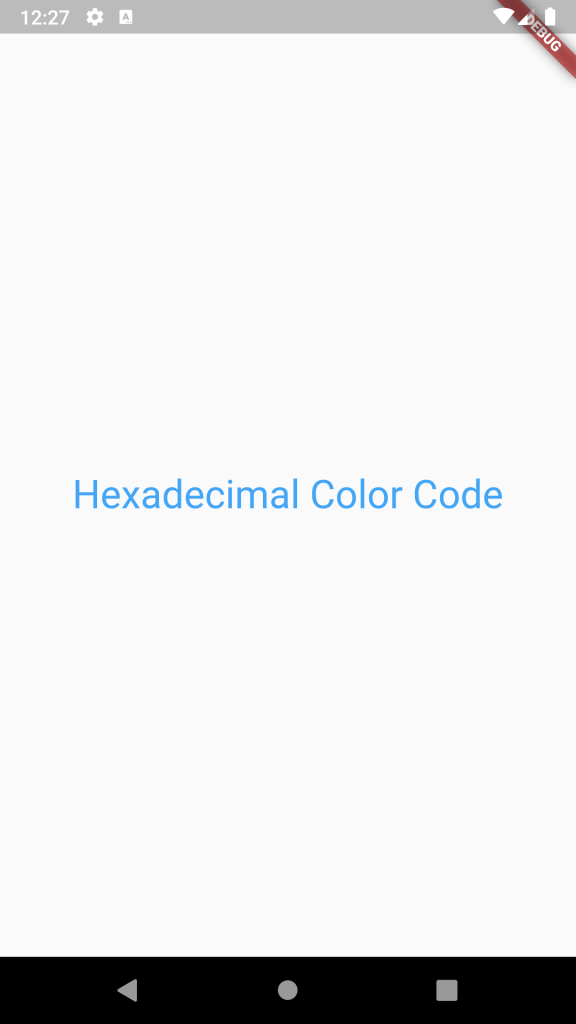 How to use Hexadecimal HEX Color Code String in Flutter Dart