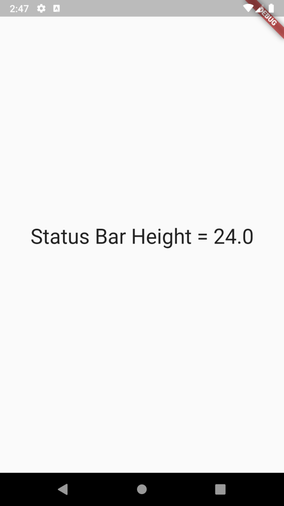 Get Status Bar Height in Flutter Android iOS App Example Tutorial