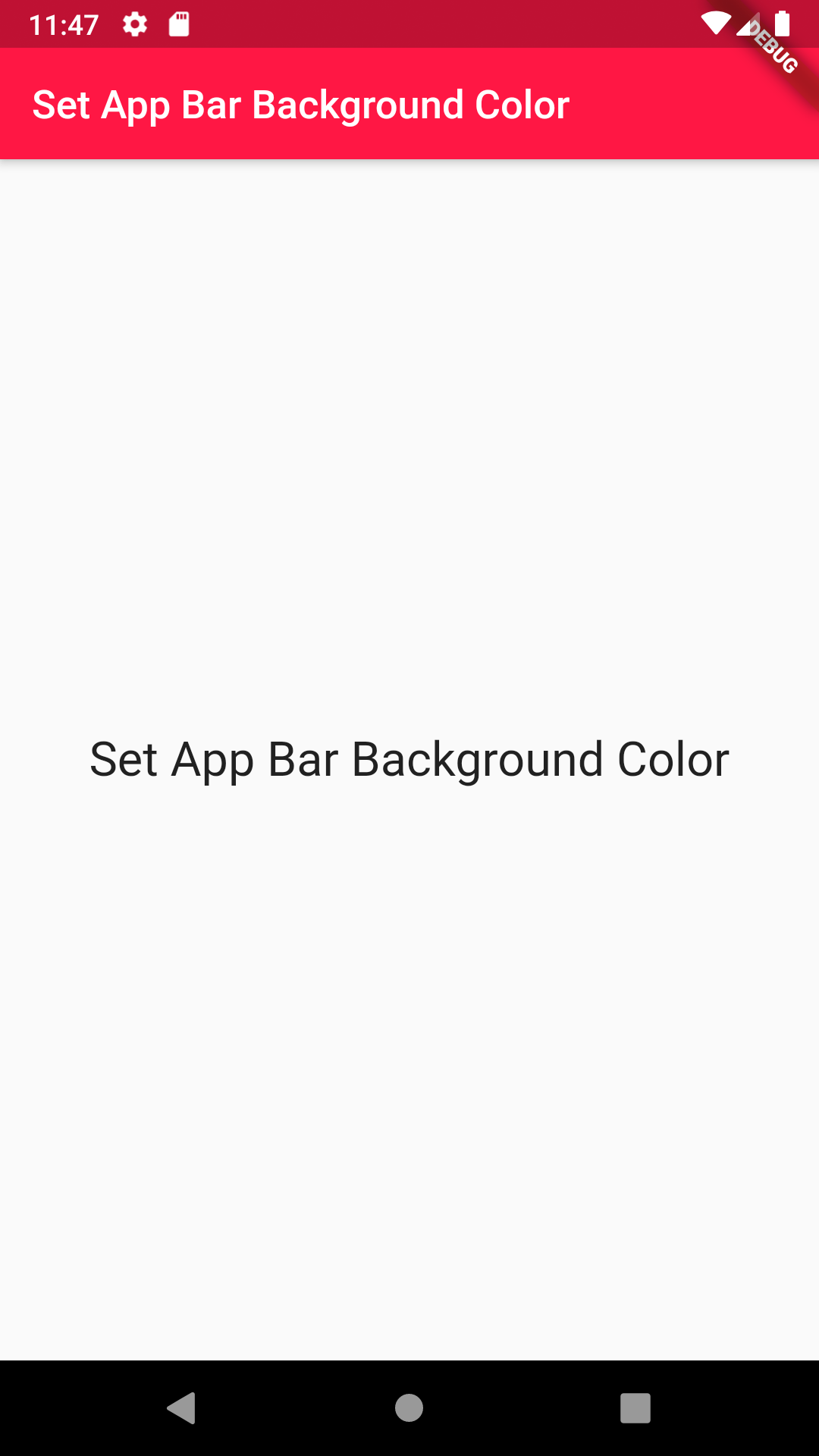 Change AppBar Background Color in Flutter Android iOS Example