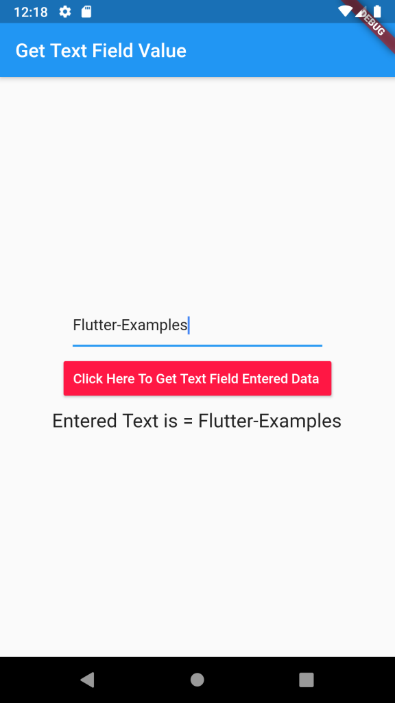 Get TextField Text Input Entered Value on Button click in Flutter