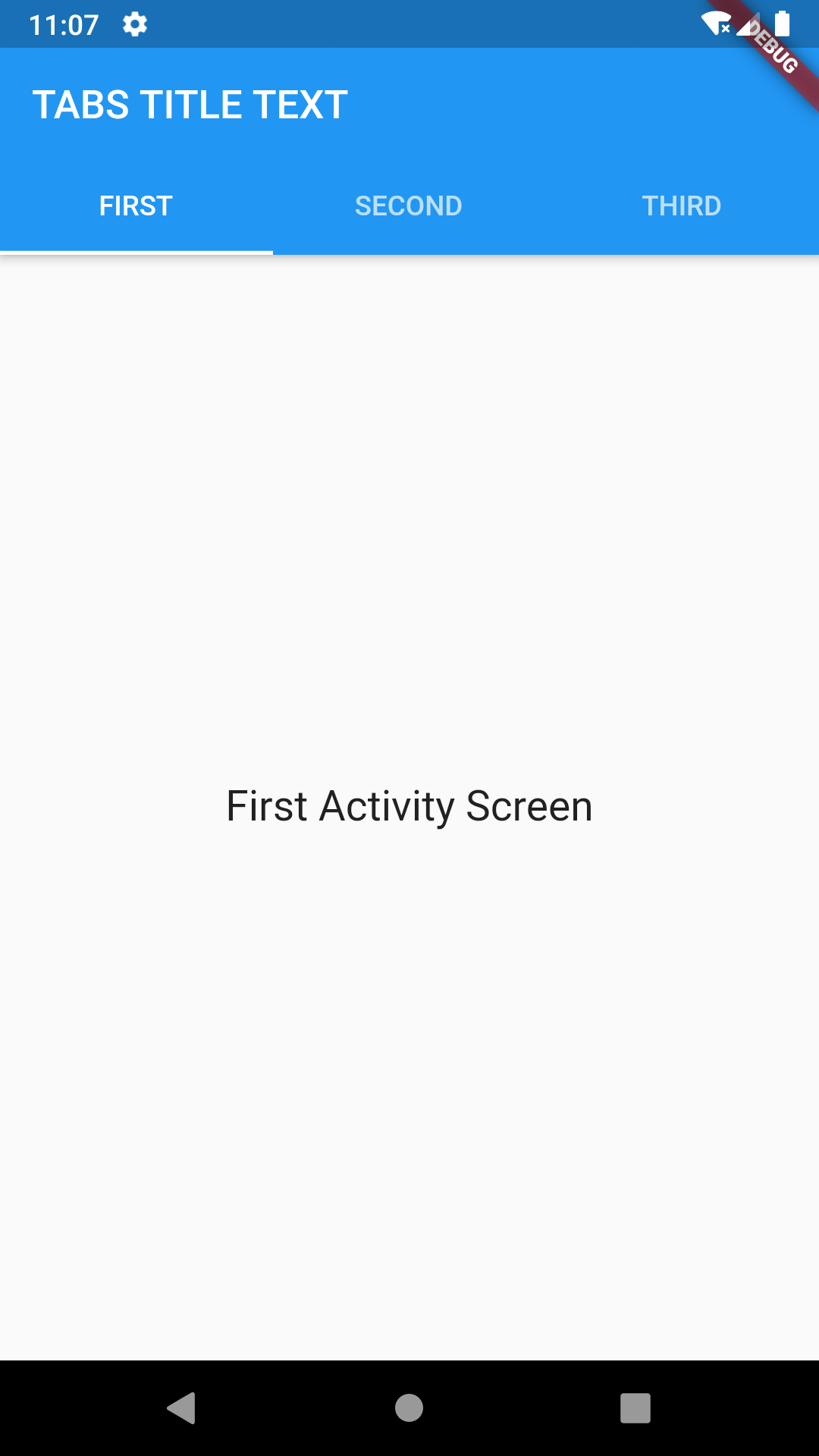 Flutter Create Swipeable Top Tab Navigation View using TabController Example Tutorial