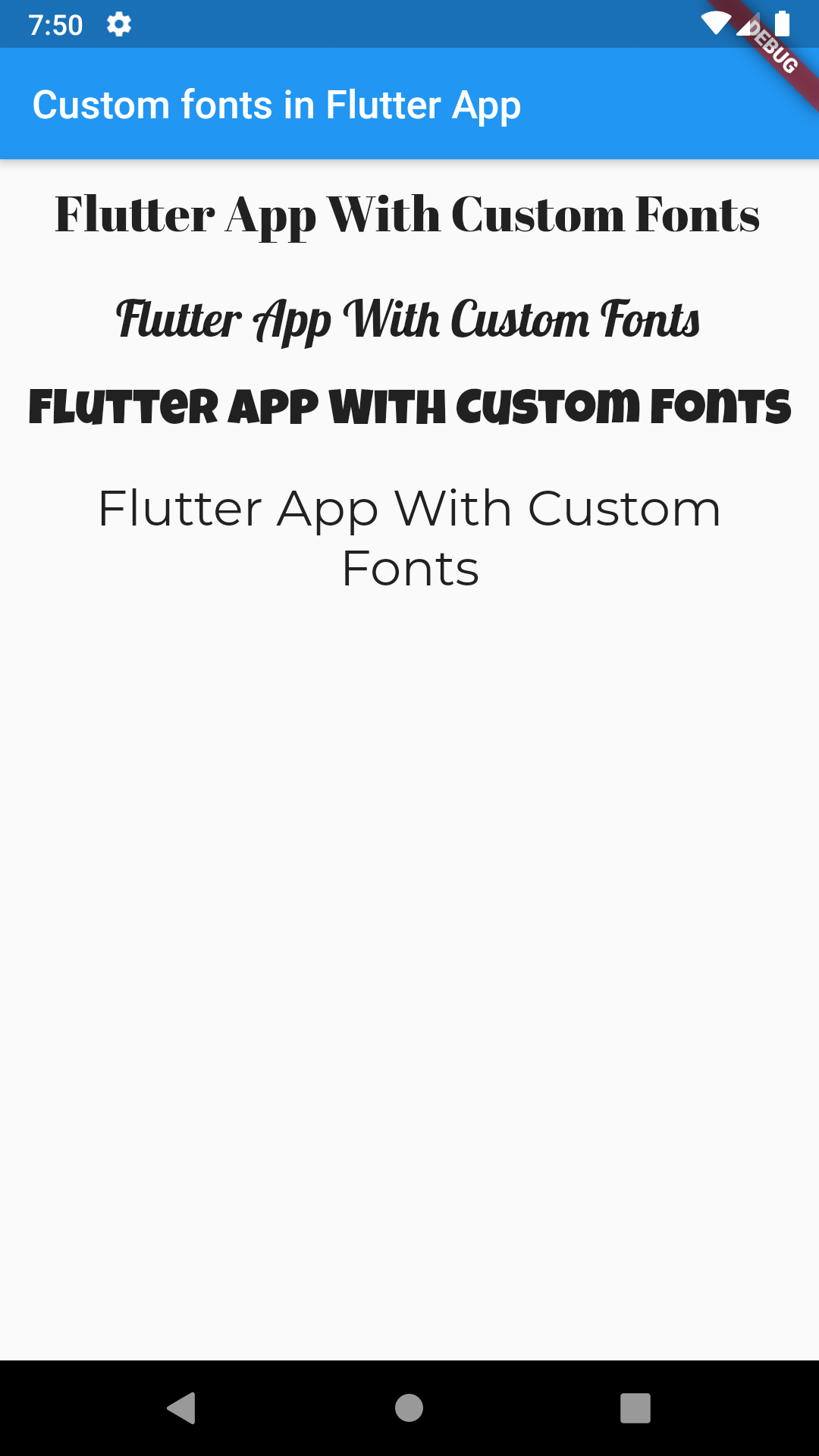 Add Use Custom External Fonts in Flutter Android iOS App Example