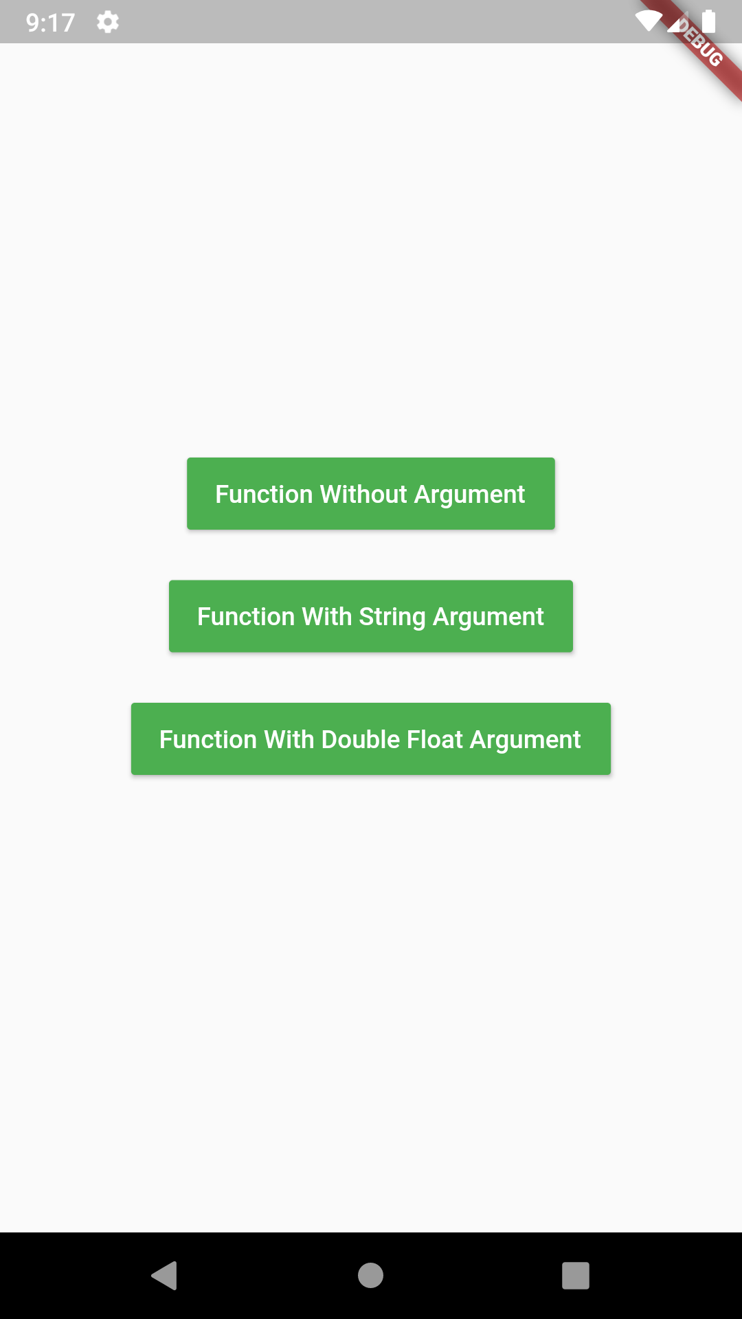 Flutter Create Call Function From Same Class on Button Click Example