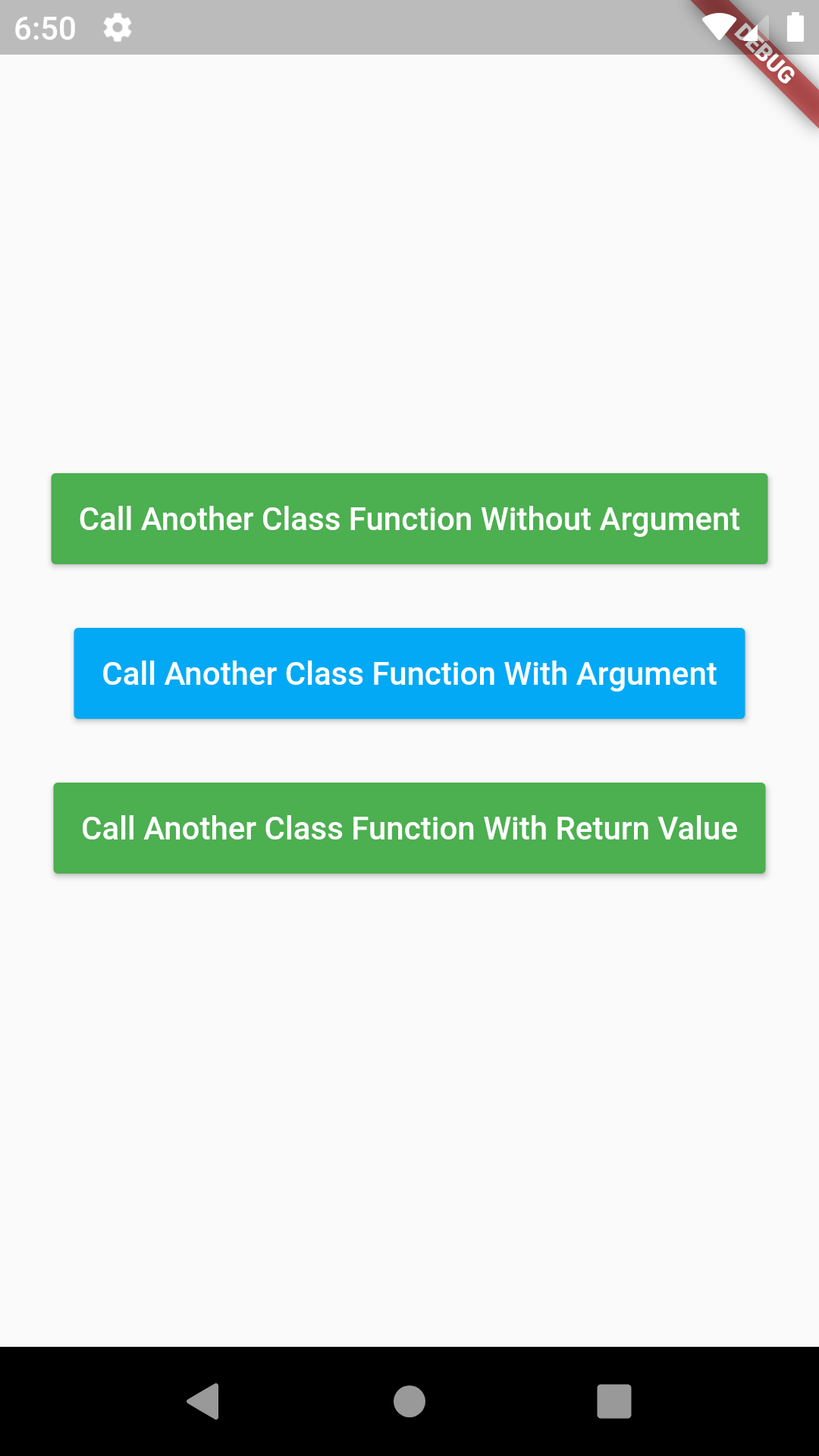 Flutter Create Call Function From Another Class in Main Class Dart Example