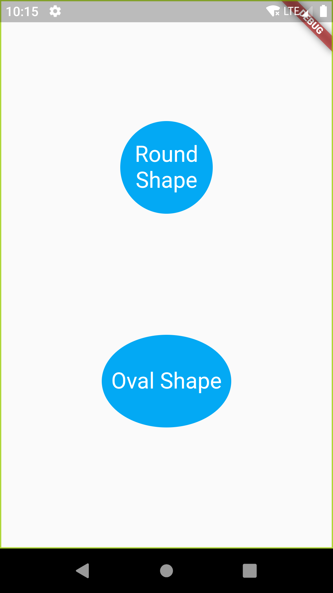Flutter Create Round Circle Oval Shape Button Android iOS Example