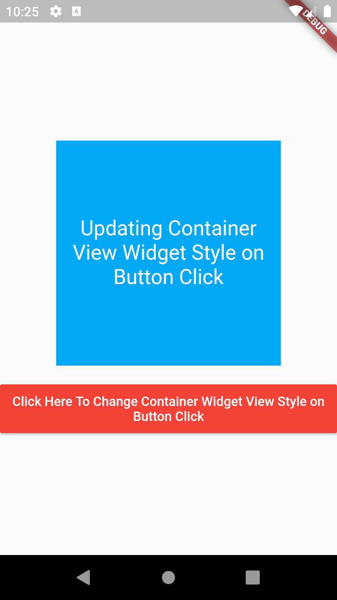 Flutter Load Different Style on Container Widget on Button Click