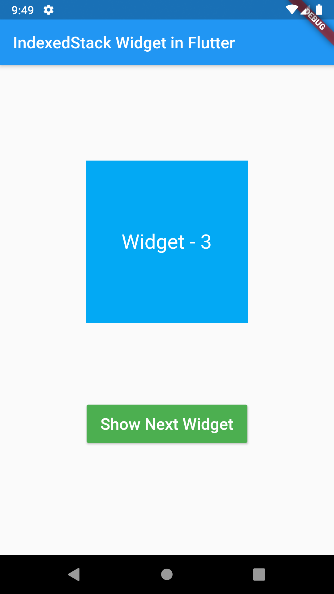 Flutter IndexedStack Widget Dart Android iOS Example Tutorial