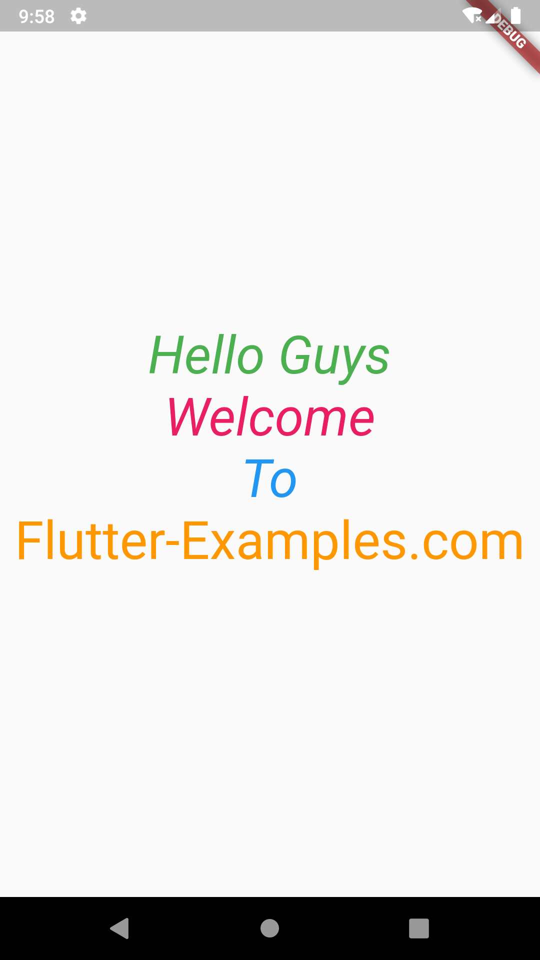 Flutter Create Custom New Widget in Android iOS Example Tutorial