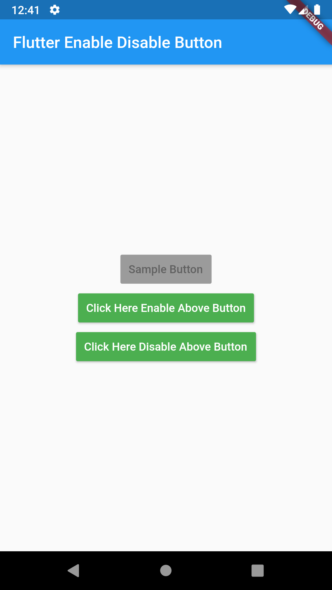 Flutter Enable Disable RaisedButton Widget Dynamically Example Tutorial