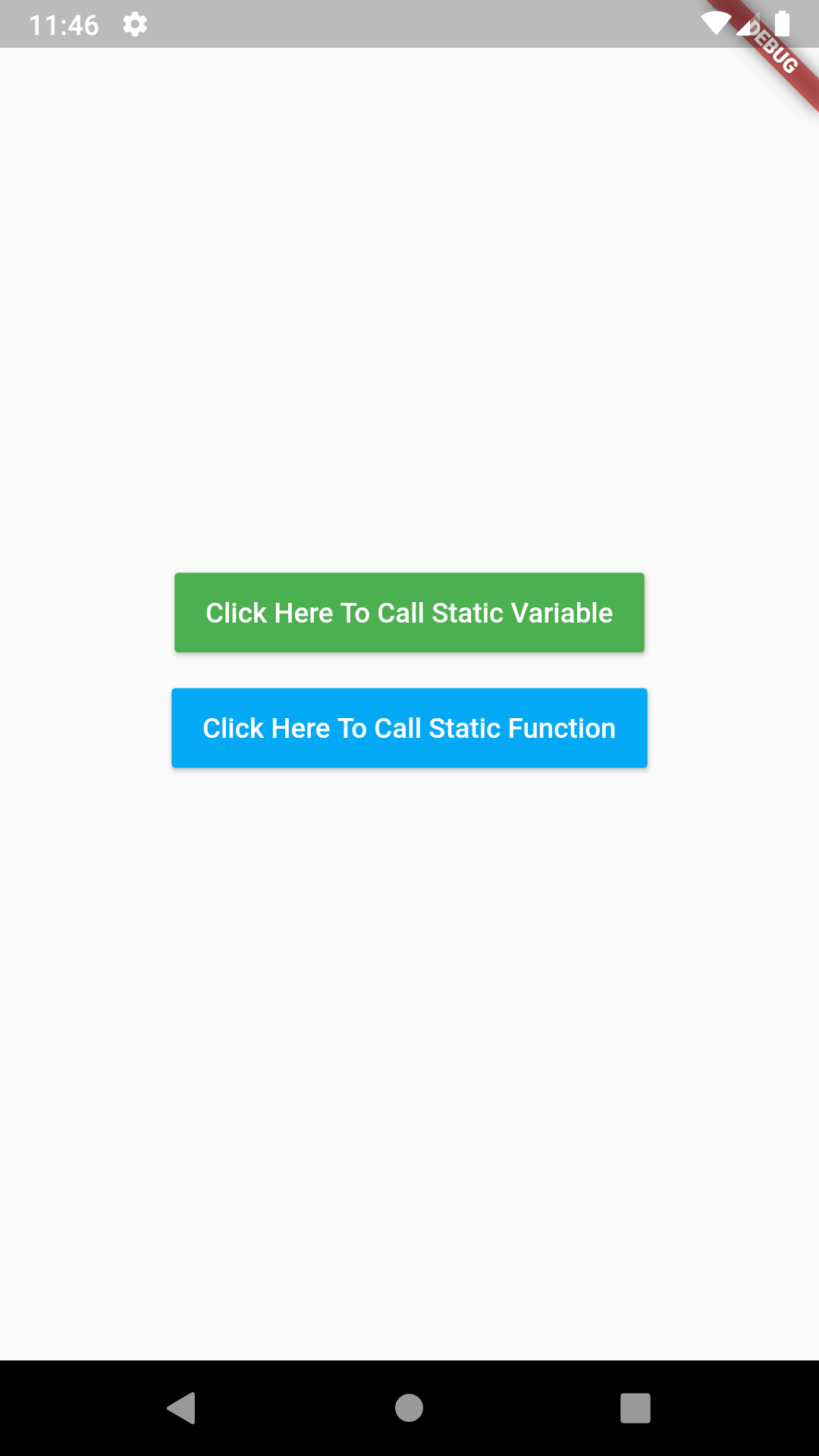 Flutter Dart Create Call Static Variables Static Methods Example