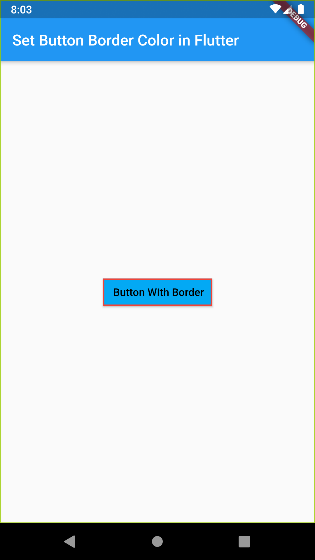 Flutter Set Change Add Border Color on Raised Button Example