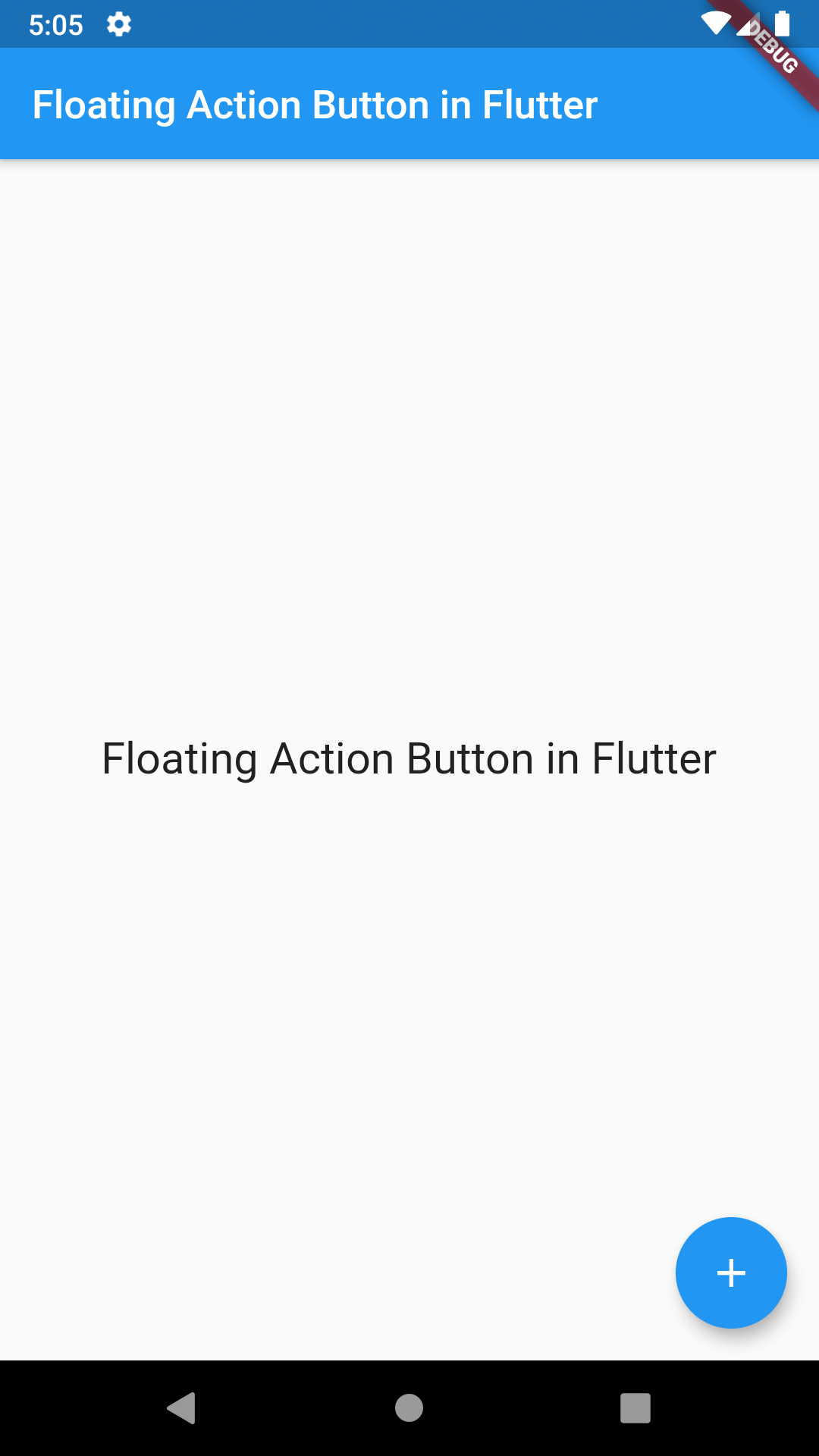 Flutter Add Create Floating Action Button for Android iOS Example Tutorial