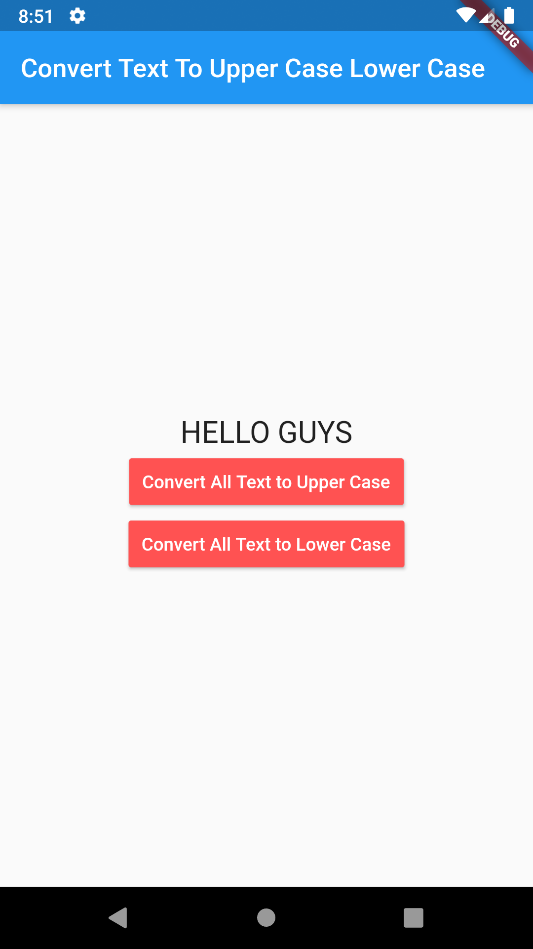 Flutter Dart Convert String Text To Upper Case Lower Case Example