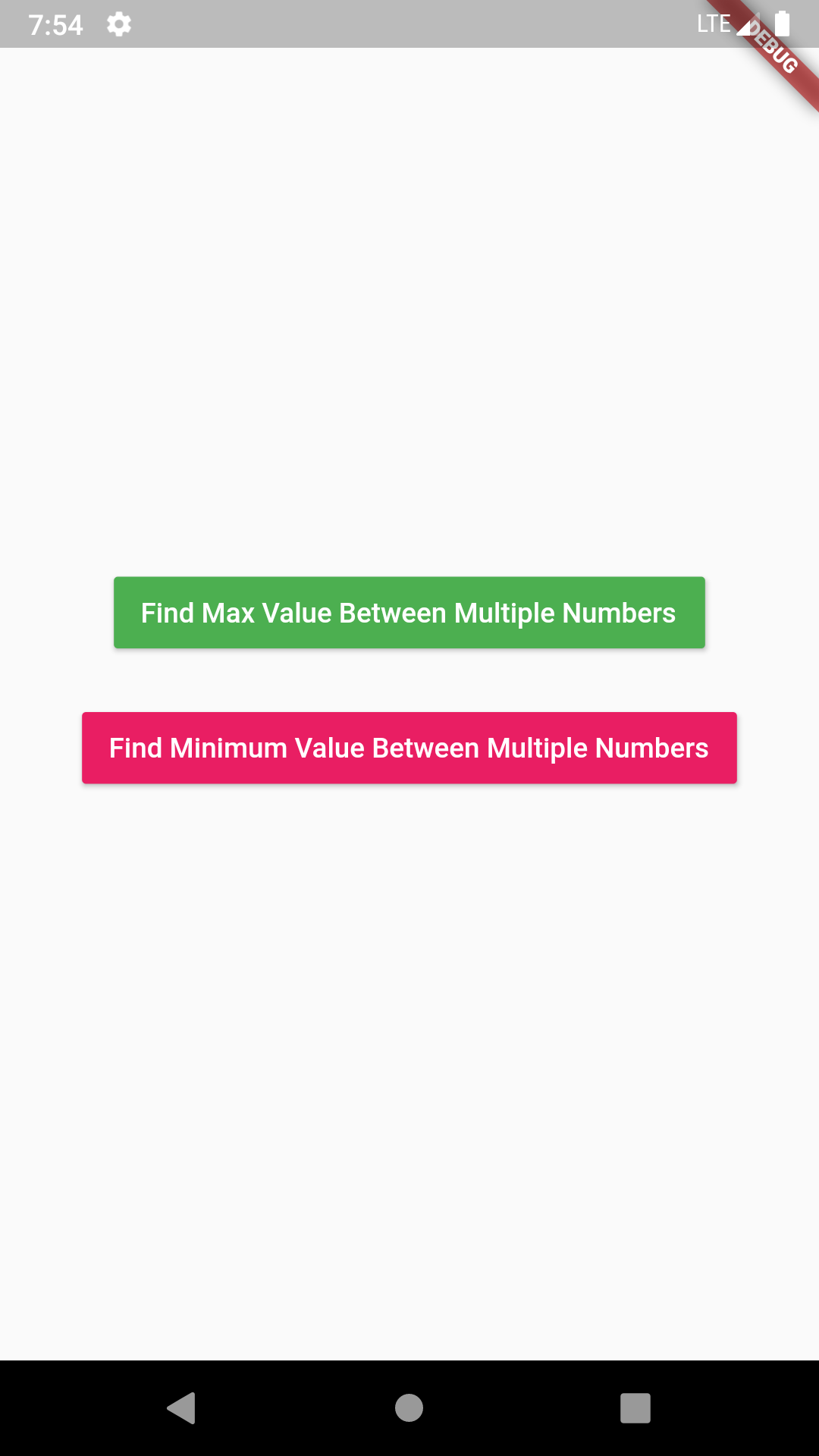 Flutter Find Maximum Minimum Number Between Multiple Numbers Dart Example