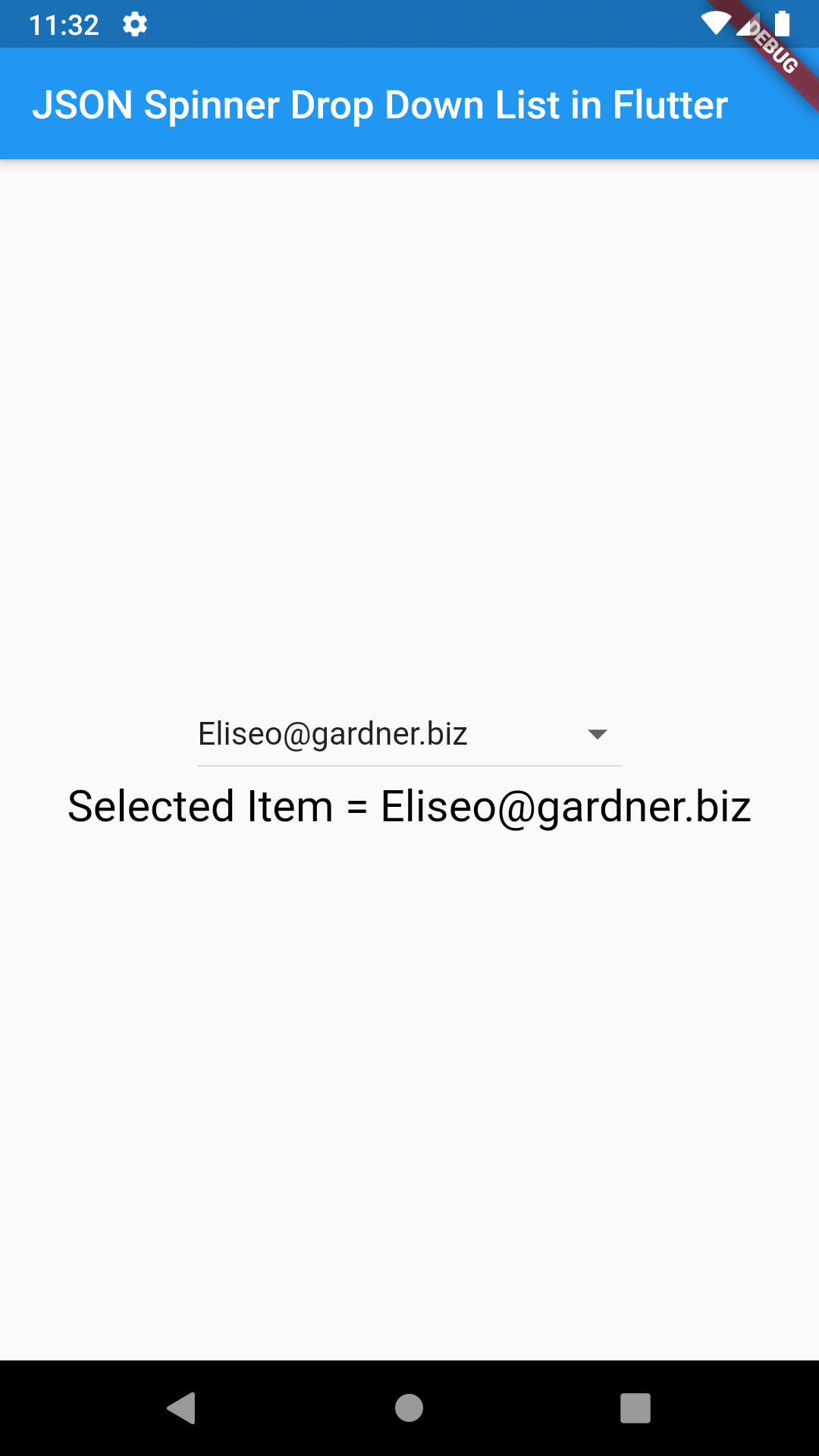 Flutter Creating JSON Parse Spinner Drop Down List Android iOS Example Tutorial
