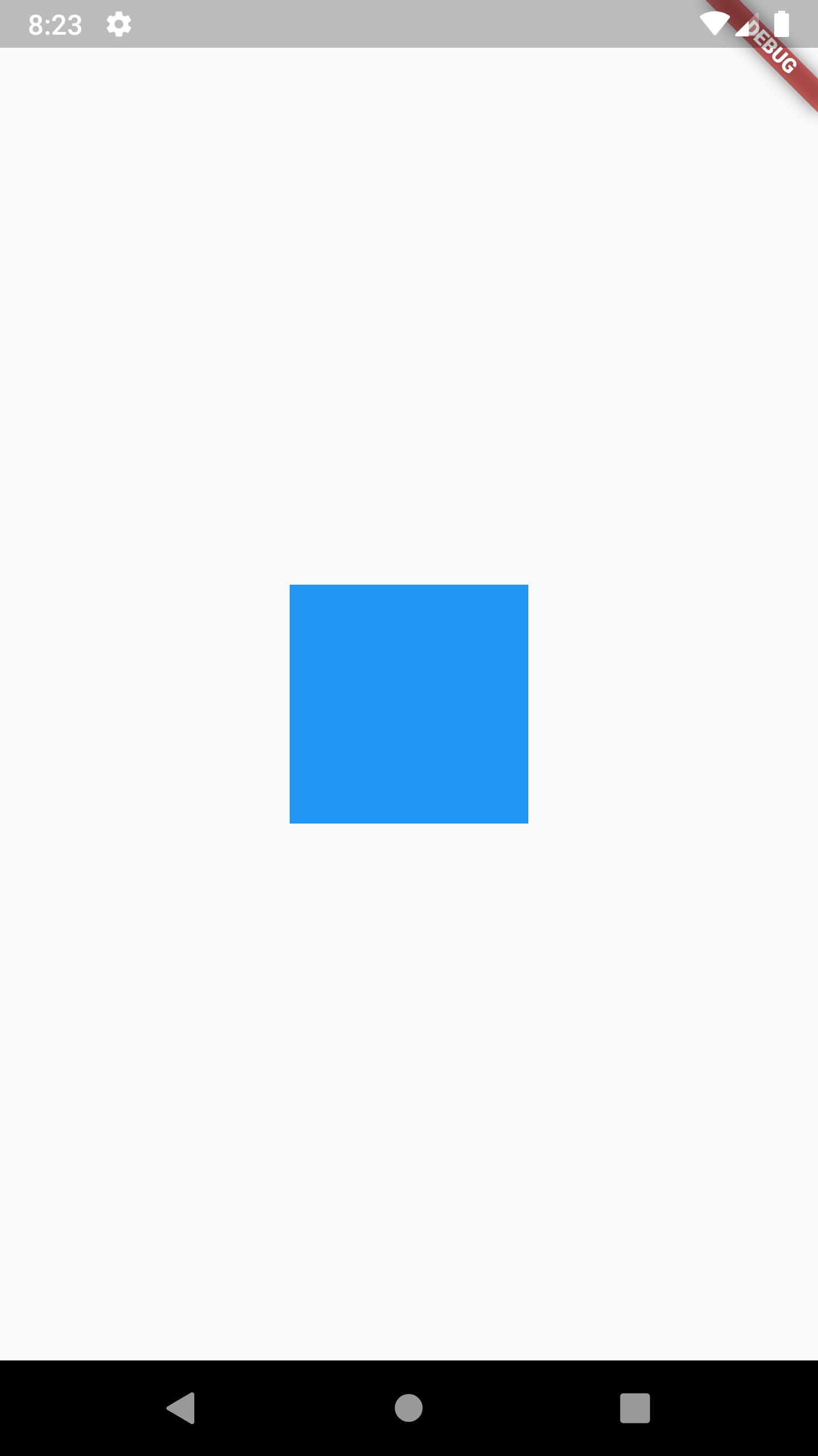 Flutter Align Container Widget Center of Screen Example