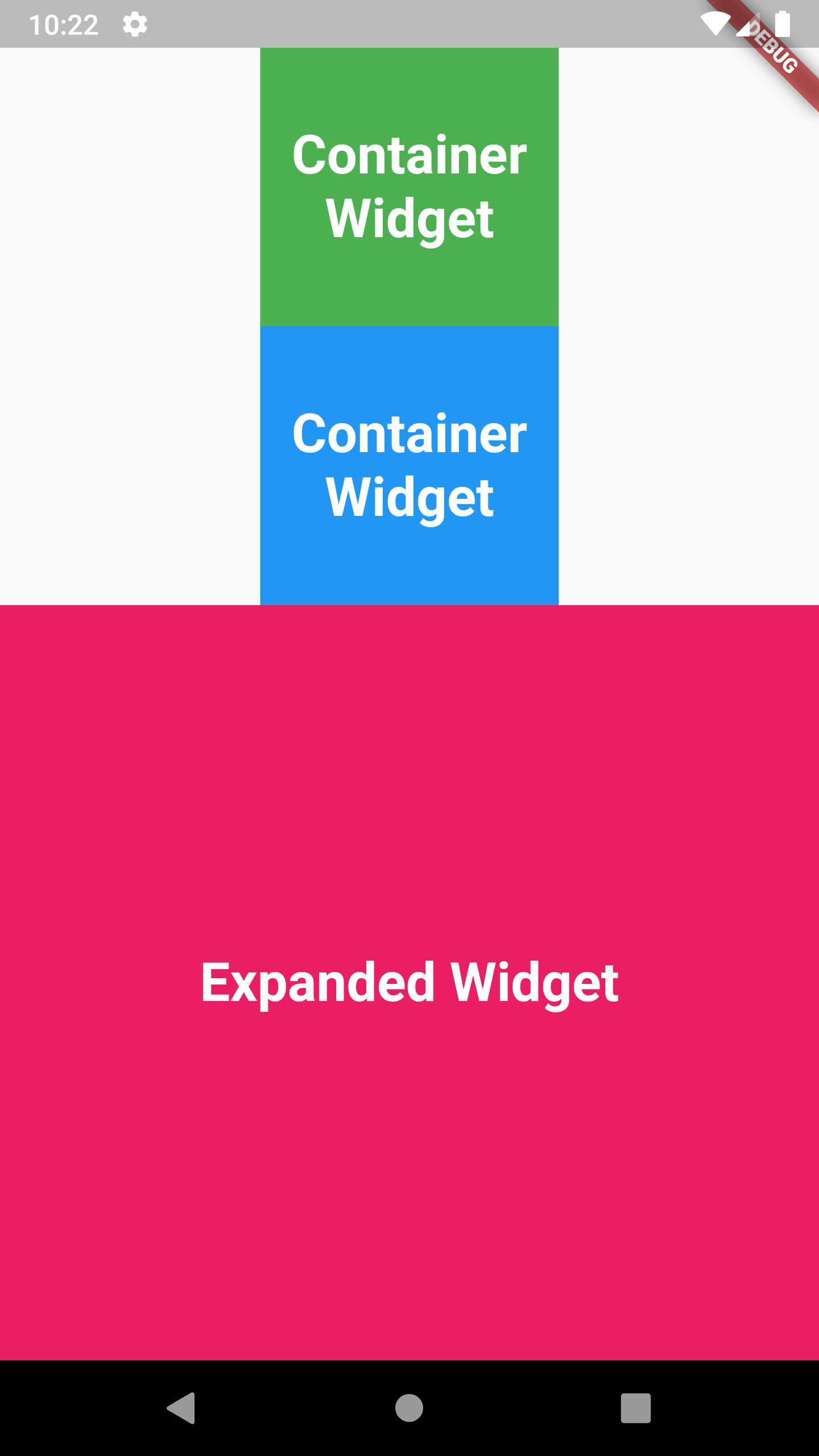 Example of Expanded Widget in Flutter