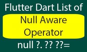 Null Aware Operator in Dart Flutter Example