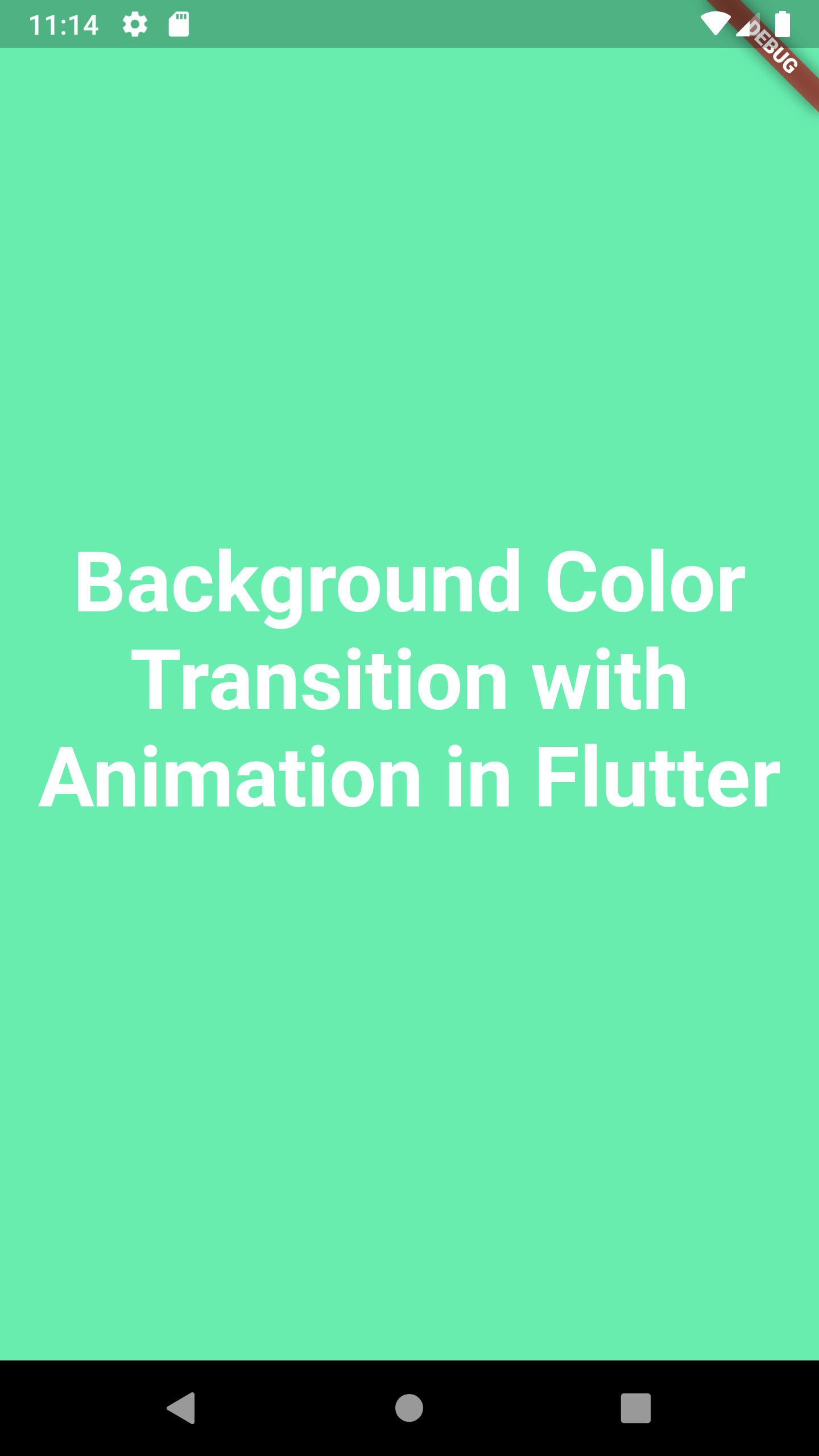 Change Background Color of Container Using Animation in Flutter