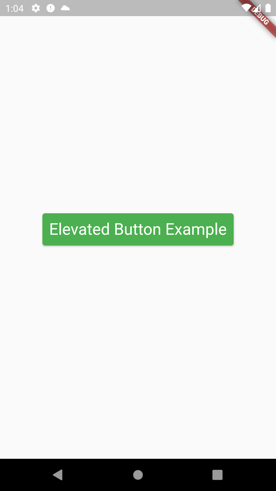 Example of ElevatedButton Widget in Flutter in Android iOS App