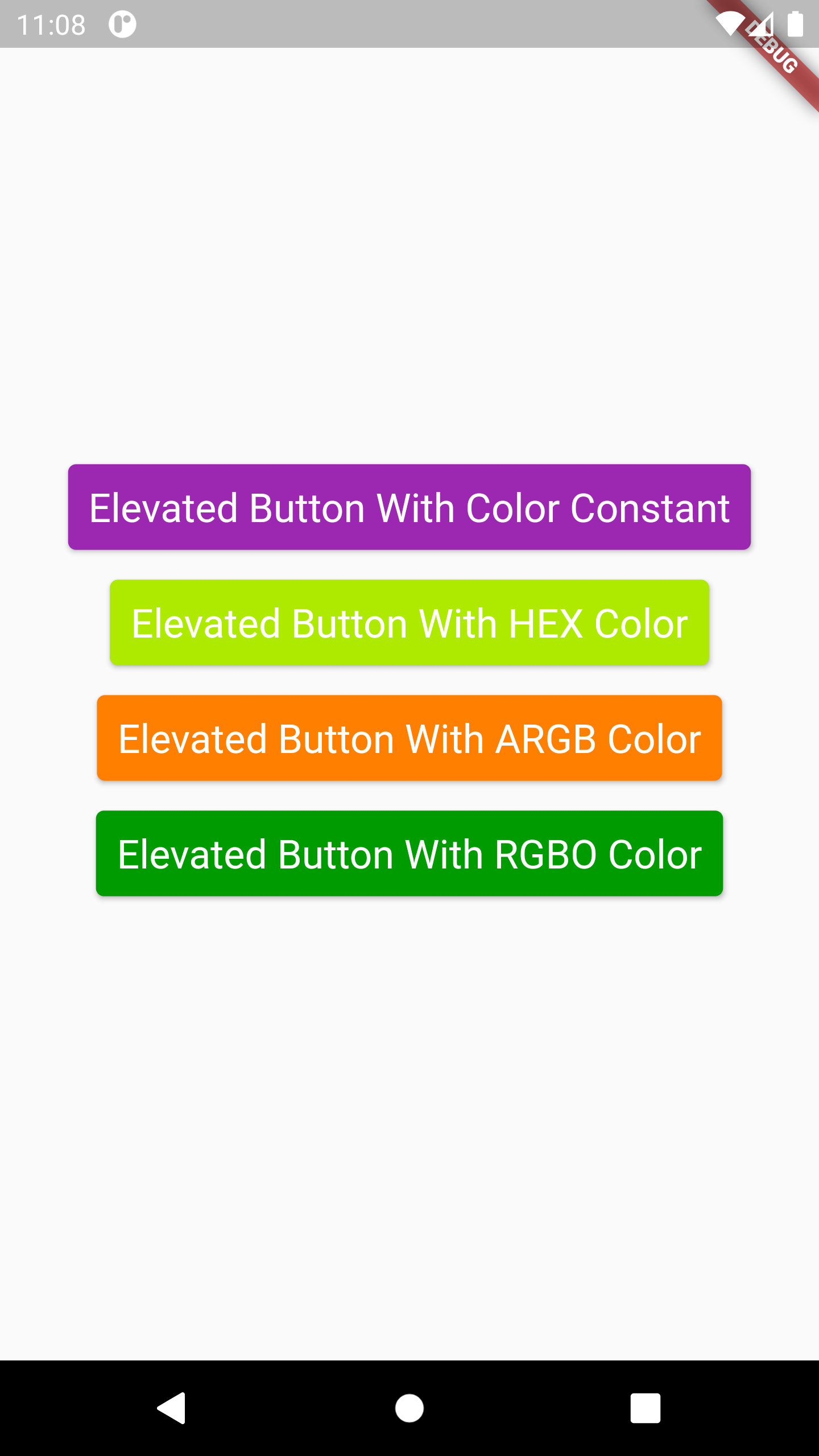 Example Set Change Elevated Button Background Color in Flutter iOS Android