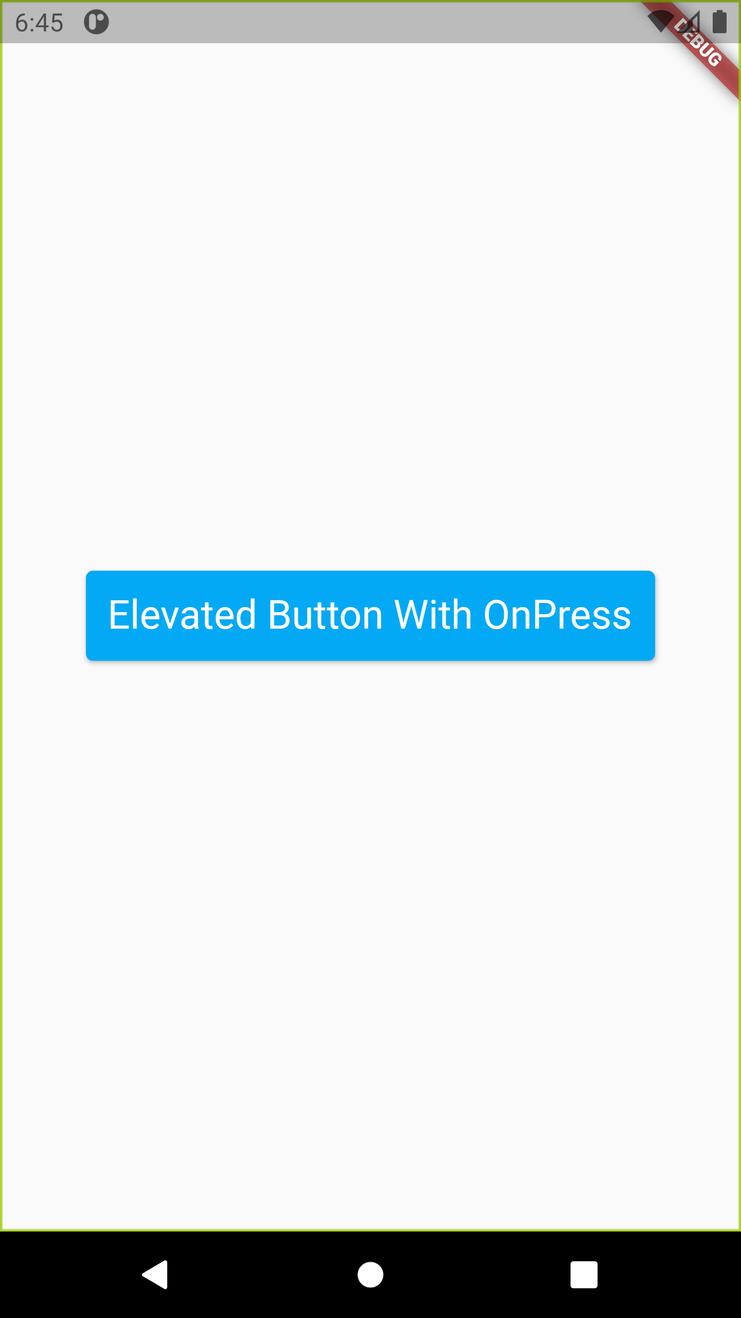 Flutter Set onPressed onClick on Elevated Button Example