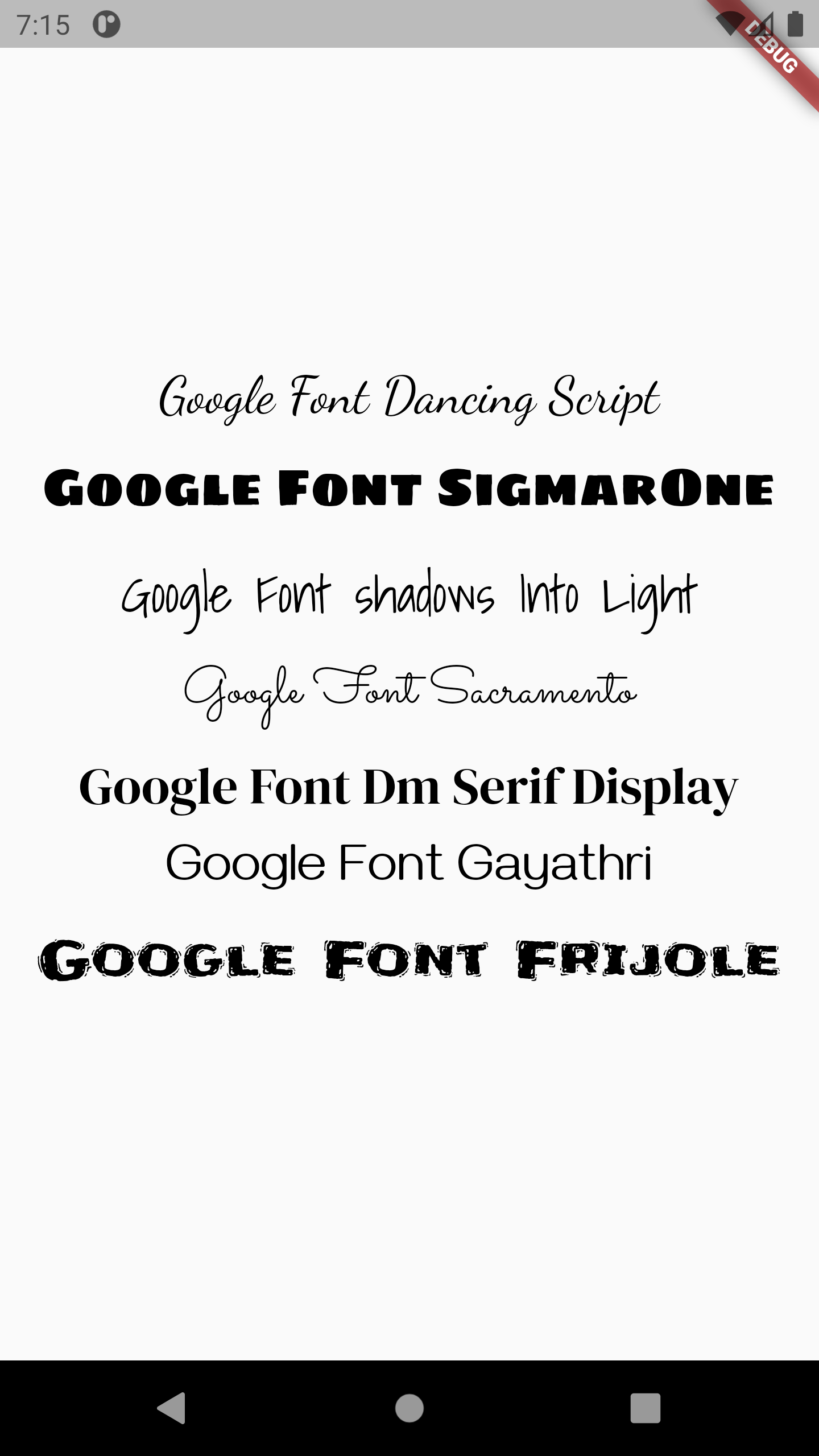 Use Google Material Style Fonts in Flutter iOS Android Example