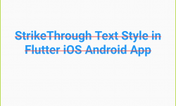 Flutter Change StrikeThrough Text Line Color in Android iOS