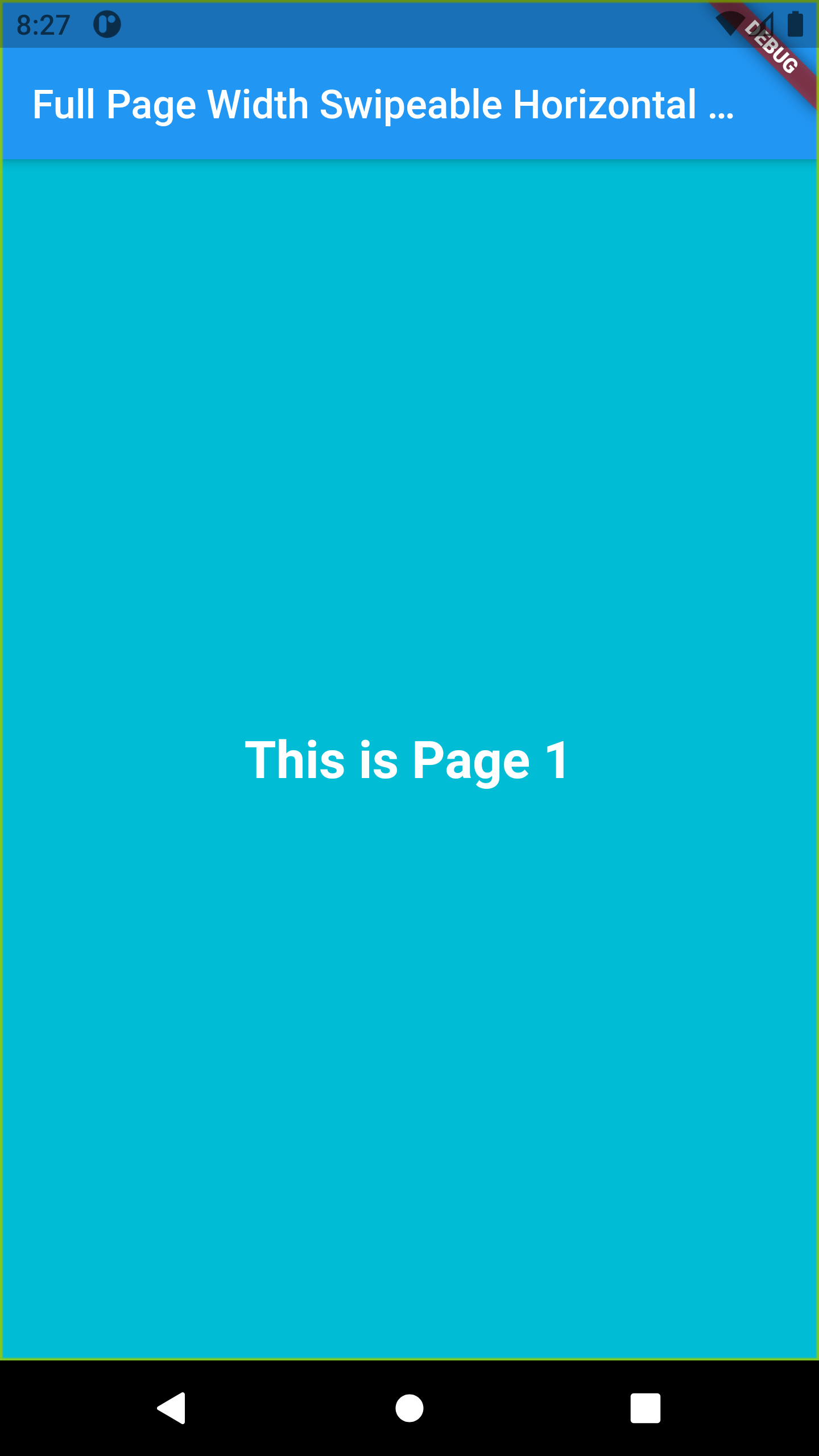 Flutter Full Page Scrollable Horizontal ScrollView Example