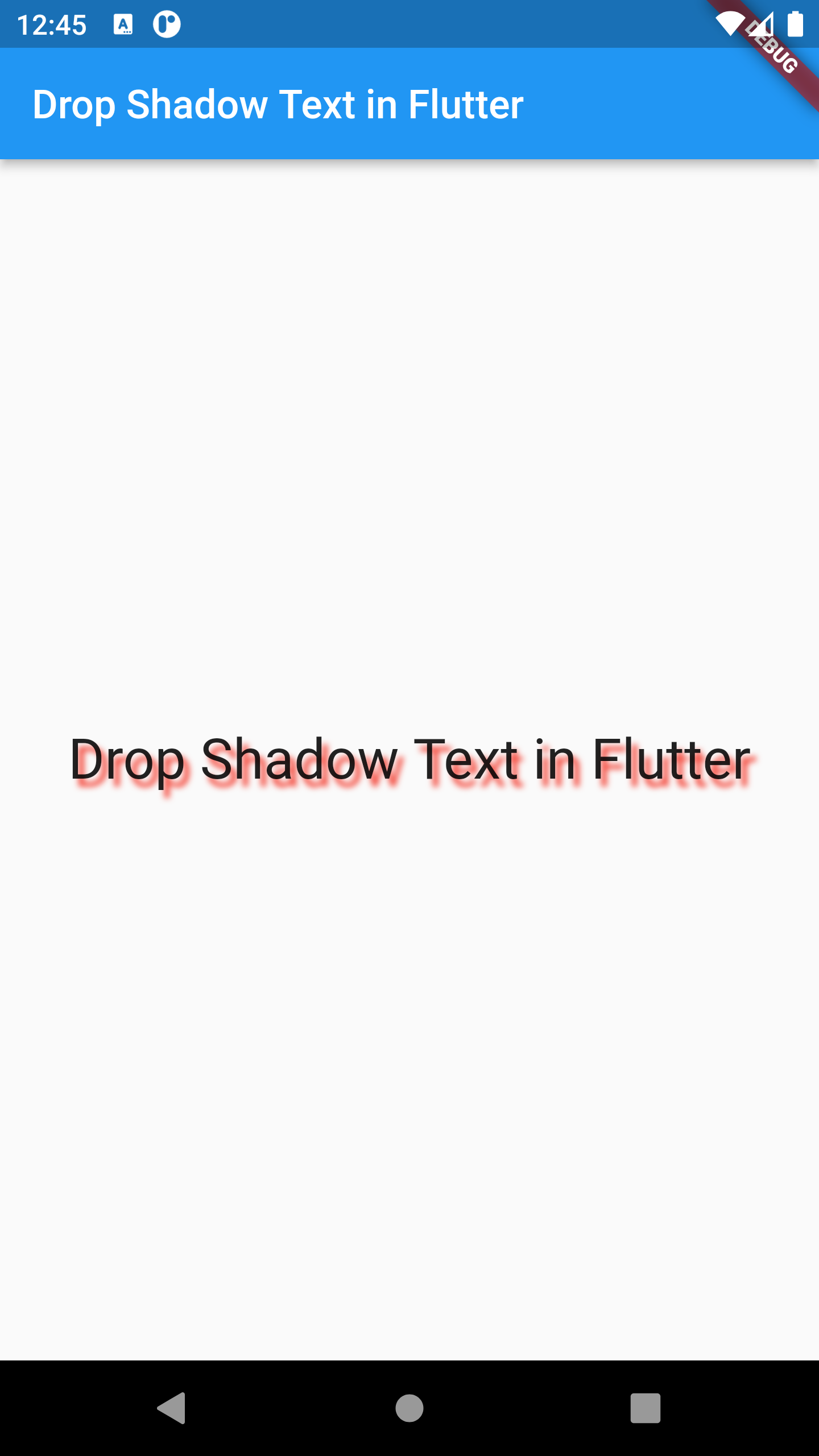 Example of Creating Drop Shadow Effect Text in FLUTTER DART